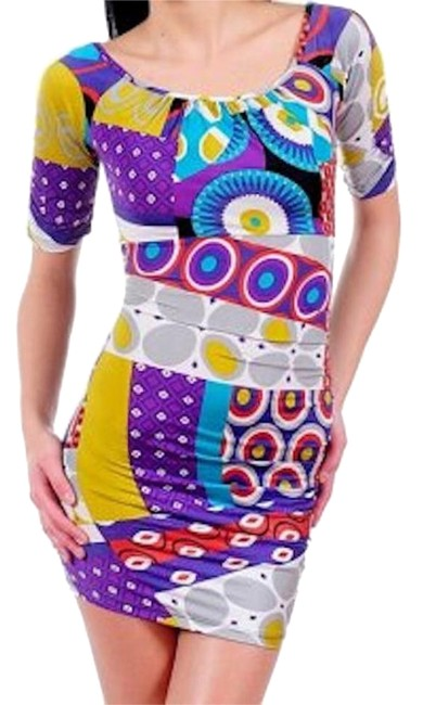 Preload https://item4.tradesy.com/images/multicolor-funky-psychedelic-color-retro-bold-print-sexy-club-jersey-above-knee-night-out-dress-size-18988543-0-1.jpg?width=400&height=650