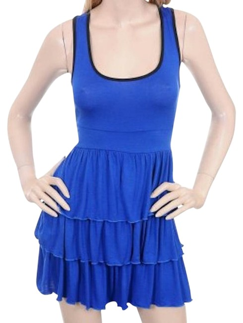 Preload https://item2.tradesy.com/images/blue-sexy-tennis-style-tiered-ruffle-mini-above-knee-short-casual-dress-size-12-l-18988621-0-1.jpg?width=400&height=650