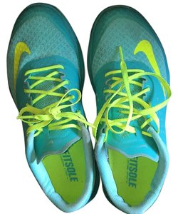 Nike Yellow, blue/greenish Athletic