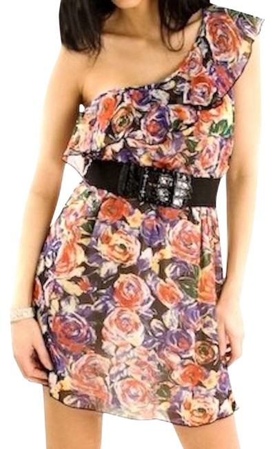 Preload https://item5.tradesy.com/images/multicolor-one-shoulder-floral-belted-ruffle-above-knee-night-out-dress-size-4-s-18988729-0-1.jpg?width=400&height=650