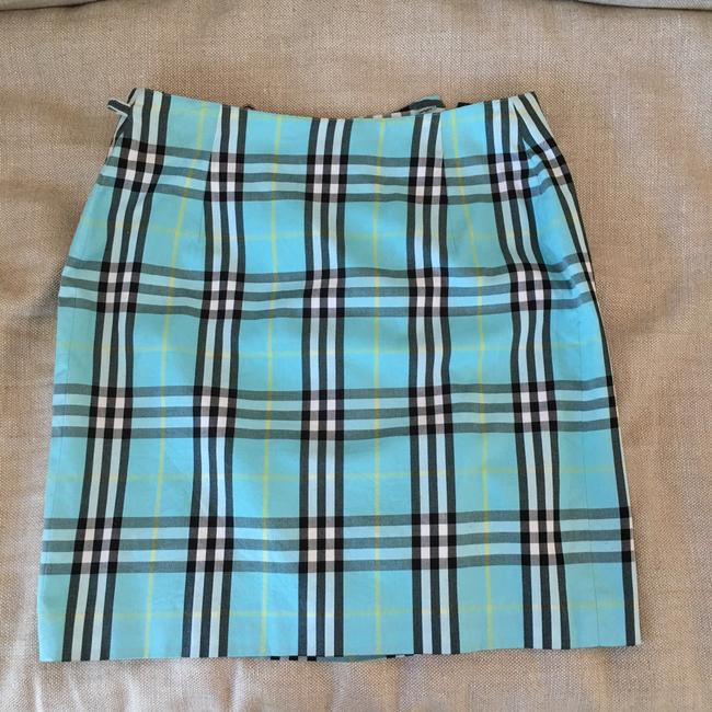 Burberry Mini Skirt Blue, black & yellow