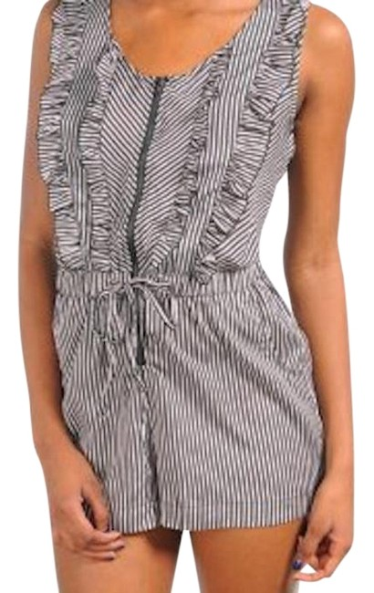 Preload https://img-static.tradesy.com/item/18988840/black-white-sleeveless-stripe-ruffle-mini-romperjumpsuit-size-8-m-0-1-650-650.jpg