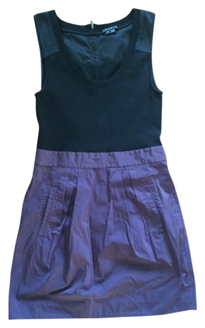 Preload https://img-static.tradesy.com/item/18988933/theory-purple-and-black-mid-length-night-out-dress-size-0-xs-0-1-650-650.jpg