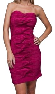 Preload https://item2.tradesy.com/images/pink-strapless-pleat-detail-knot-above-knee-cocktail-dress-size-8-m-18988951-0-1.jpg?width=400&height=650