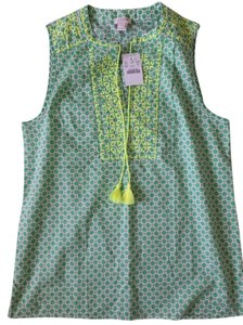 J.Crew J. Crew Embroidered Top Green