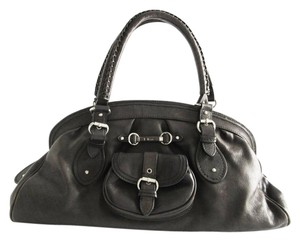 Dior My Leather Purse Satchel in Black