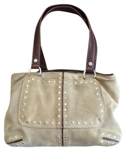 Michael Kors Leather Medium Purse Satchel in Desert/camel