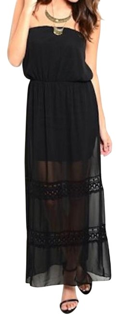 Preload https://img-static.tradesy.com/item/18989488/black-40-off-strapless-blouson-beach-maxi-long-night-out-dress-size-8-m-0-1-650-650.jpg