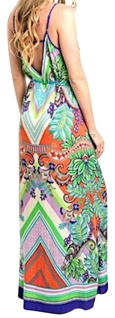 Preload https://img-static.tradesy.com/item/18989602/multicolor-ethnic-print-tie-waist-beach-long-night-out-dress-size-8-m-0-1-650-650.jpg