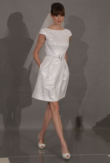 Preload https://item3.tradesy.com/images/theia-white-cap-sleeve-jacquard-fit-and-flare-casual-wedding-dress-size-6-s-18990097-0-0.jpg?width=440&height=440