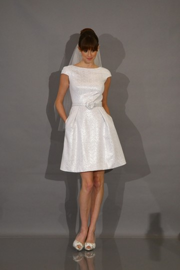 Preload https://img-static.tradesy.com/item/18990157/theia-white-cap-sleeve-jacquard-fit-and-flare-casual-wedding-dress-size-10-m-0-0-540-540.jpg