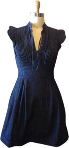 Colcci short dress Denim Navy Stylish Intricate on Tradesy