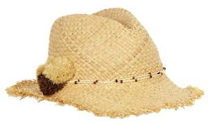 Echo Design Frayed Straw Hat