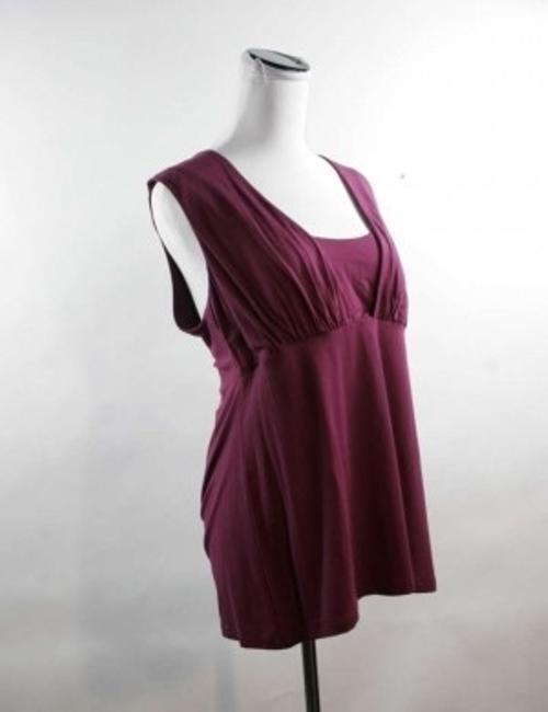 Banana Republic Grape Gathered Waist Empire Waist Reinforced Bust Spandex Xl Sleeveless Womens Top Purple