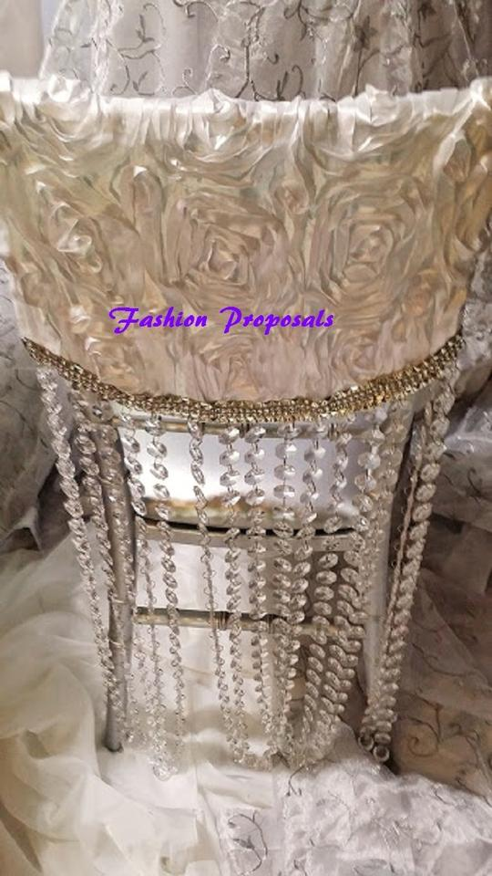 ivory chair covers caps or hoods rosette chiavari chair covers with
