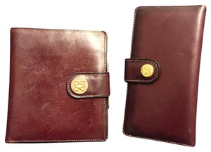 Bosca Two Red Leather Bosca Wallets