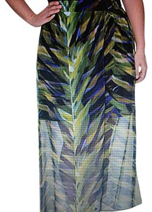 Lane Bryant Chiffon Print Plus-size Maxi Skirt Green