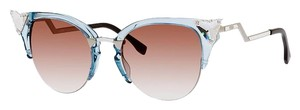 Fendi Blue Iridia Swarovski Cateye sunglasses