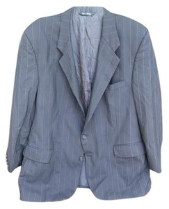 Burberry Men's Pinstripe Blue Blazer