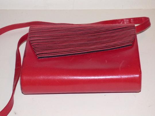 Bally Mint Vintage Two-way Style Asymmetrical Front Striped Accent Dressy Or Casual Cross Body Bag