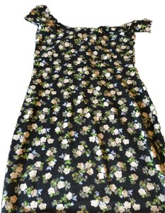 Divided by H&M short dress Black with flowers on Tradesy