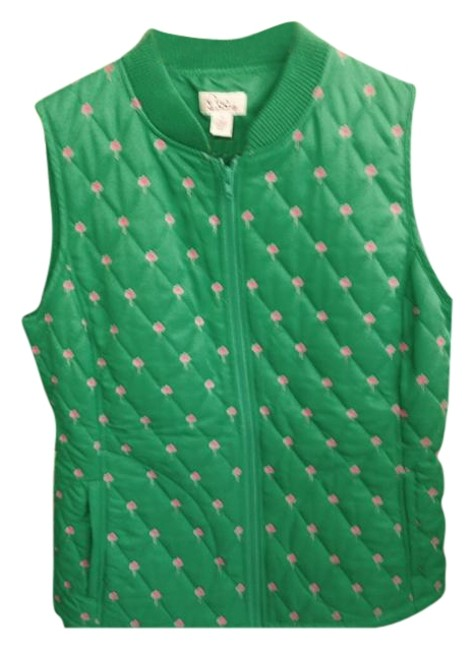 Preload https://img-static.tradesy.com/item/18992524/lilly-pulitzer-green-pink-quilted-puffer-vest-size-8-m-0-1-650-650.jpg