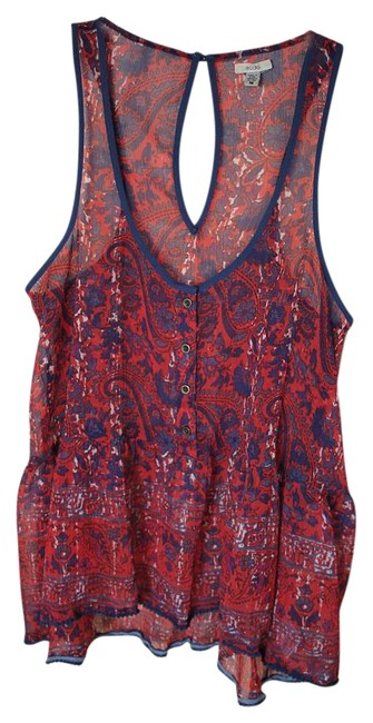 Preload https://img-static.tradesy.com/item/18992581/ecote-red-sheer-floral-cami-blouse-size-8-m-0-1-650-650.jpg