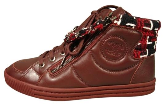 Preload https://item3.tradesy.com/images/chanel-burgundy-navy-white-355-lambskin-lace-up-sneakers-tweed-accents-sneakers-size-us-5-regular-m--18992632-0-1.jpg?width=440&height=440