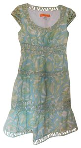 Cynthia Steffe Tropical Eyelet Tiered Dress