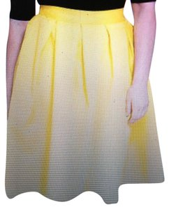 The Limited Pleated Plus-size Skirt Yellow