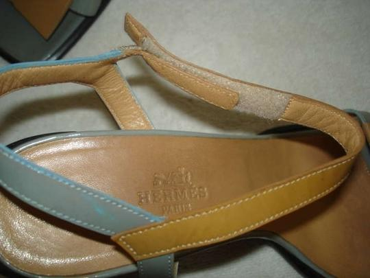 Hermès LIGHT BLUE & TAN Sandals