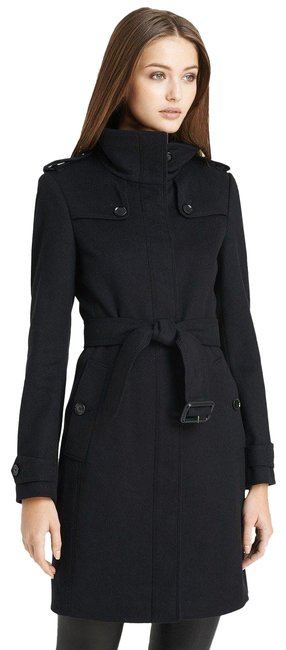 Preload https://item5.tradesy.com/images/burberry-london-black-basingstoke-wool-cashmere-trench-coat-size-2-xs-18993034-0-3.jpg?width=400&height=650