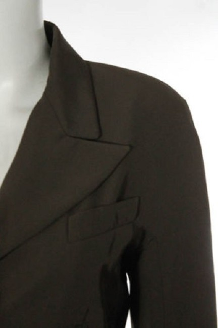 Saint Laurent Ysl Vintage Retro Professional Brown Blazer