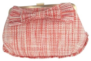 J.Crew J. Crew Orange Bow Orange/white Clutch
