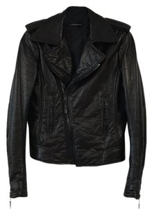 Balenciaga Leather Moto Leather Jacket