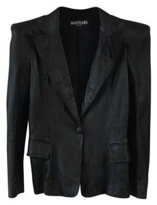 Balmain Leather Lambskin Leather Jacket