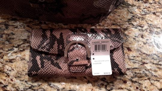 Coach Leather black and grey Clutch