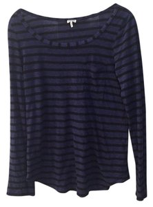 Splendid T Shirt Blue and black striped
