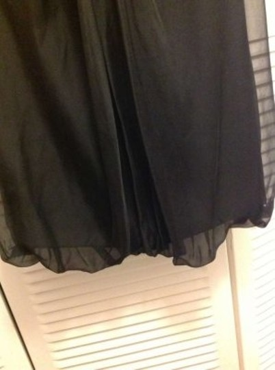 Vera Wang Lavender Label Black Chiffon Sweetheart Strapless Formal Bridesmaid/Mob Dress Size 14 (L)