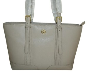 Tory Burch Tote in French Gray Grey Tan