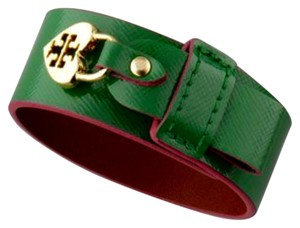 Tory Burch Tory Burch Braclet Alden Cuff Patent Leather Green/Pink