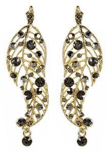 Amrita Singh Amrita Singh Gold Crystal Madrid Long Leaf Earrings Erc 4053