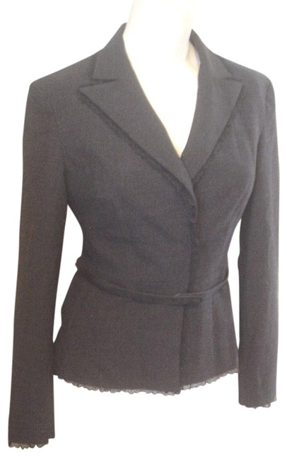 Preload https://item4.tradesy.com/images/tahari-dark-gray-lace-trim-snap-front-fitted-lined-jacket-2p-blazer-size-petite-2-xs-18994498-0-1.jpg?width=400&height=650