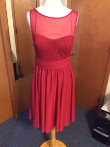 David's Bridal Red Bridesmaid Dress Dress