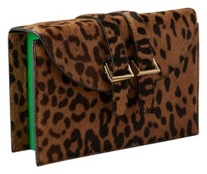 Meli Melo Calf Hair Lucite Animal Print Leopard Clutch