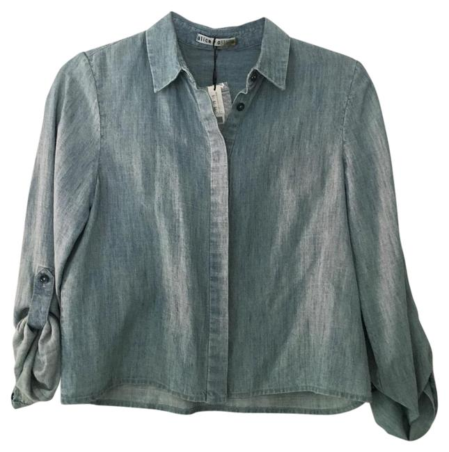 Item - Denim And Crop Button-down Top Size 0 (XS)