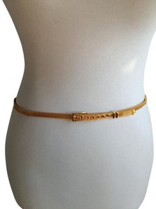 Cynthia Rowley Gold Metal Mesh Skinny Belt