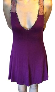 Jessica Simpson short dress Purple on Tradesy