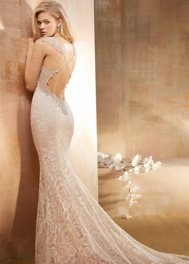 Preload https://item2.tradesy.com/images/ivory-corded-lace-over-rum-pin-charmeuse-style-av9511-feminine-wedding-dress-size-2-xs-18994981-0-0.jpg?width=440&height=440