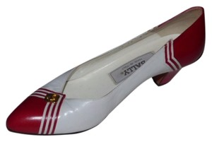 Bally Spectator Style red leather and white leather Pumps